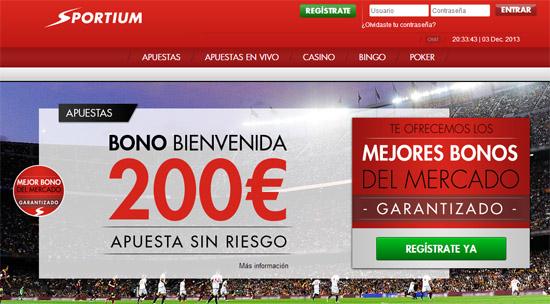 Recibe tu bono de 200 euros de Sportium