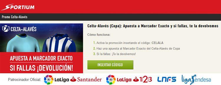 Apuesta sin riesgo en el partido Celta - Alavés