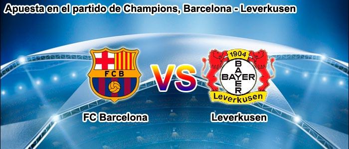 Apuesta en el partido de Champions, Barcelona - Leverkusen