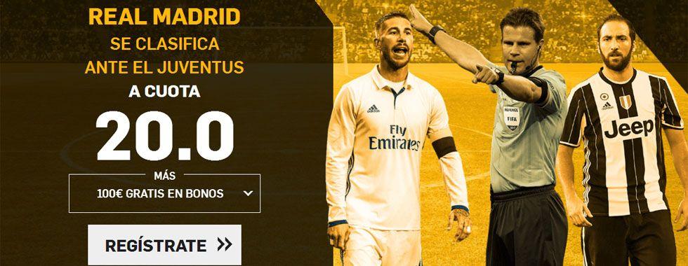 Supercuota por la victoria del Real Madrid ante la Juventus