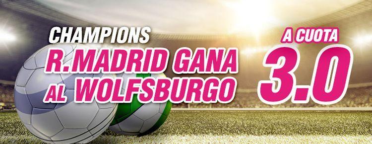 Apuesta por la victoria del Real Madrid ante el Wolfsburgo