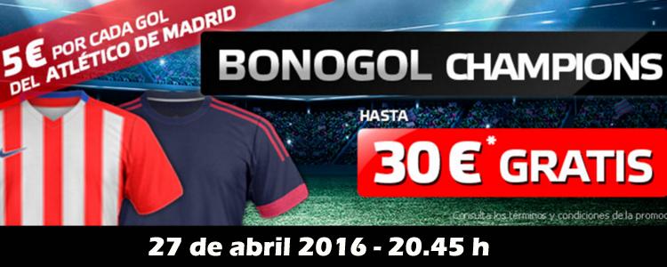 5€ por cada gol del Atlético de Madrid ante el Bayern Munich