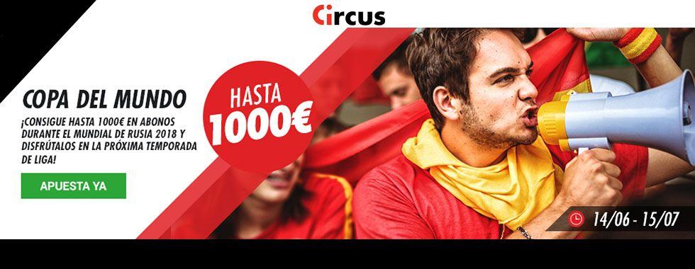 Consigue 1000€ en abonos con Circus