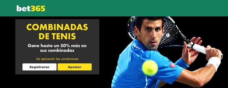 Haz tus apuestas combinadas de tenis con Bet365