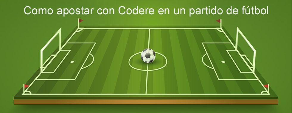 Apuesta en un partido de fútbol con Codere