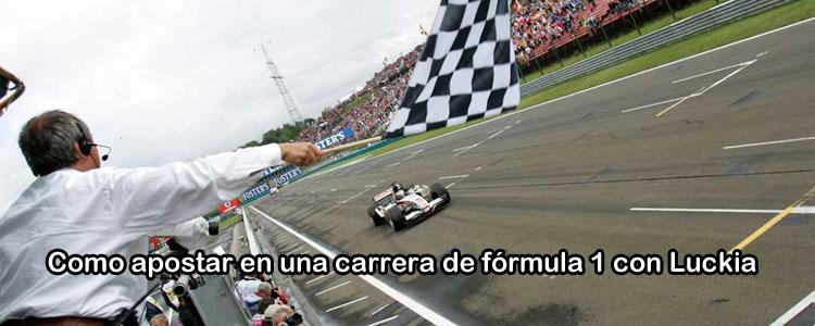 Como apostar en una carrera de fórmula 1 con Luckia