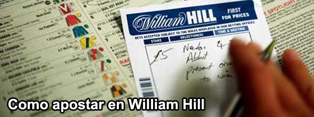 Como apostar en William Hill