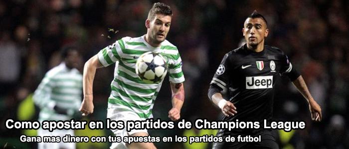 Como apostar en los partidos de Champions League 2013
