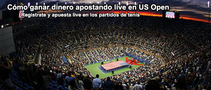 Cómo ganar dinero apostando live en US Open?