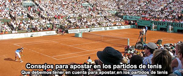Consejos para apostar en los partidos de tenis