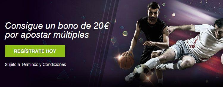 Consigue un bono de 20€ por realizar apuestas múltiples