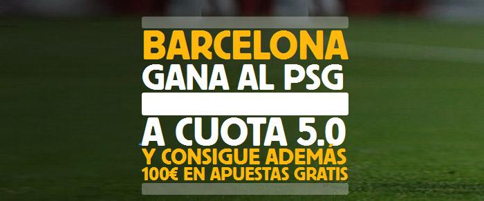 Supercuota por la victoria de Barcelona ante el PSG