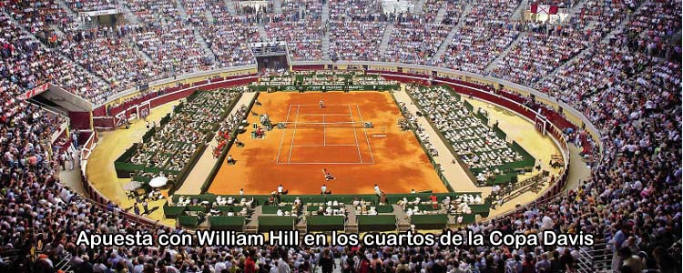 Apuesta con William Hill en los cuartos de final de la Copa Davis