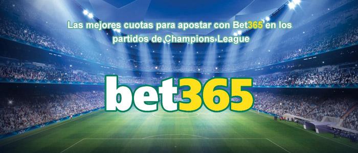 Las mejores cuotas para apostar con Bet365 en los partidos de Champions