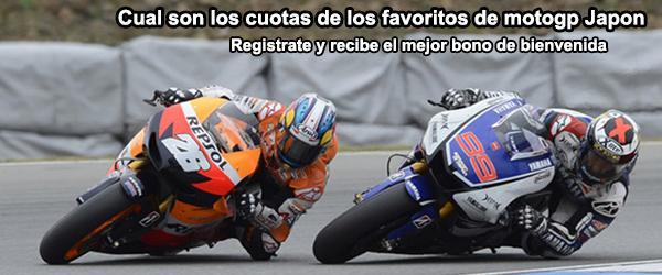 Cual son los cuotas de los favoritos de motogp Japón
