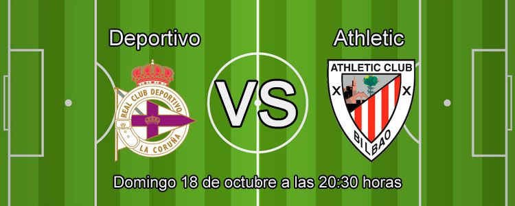 Deportivo y Athletic Bilbao se enfrentan en la liga BBVA