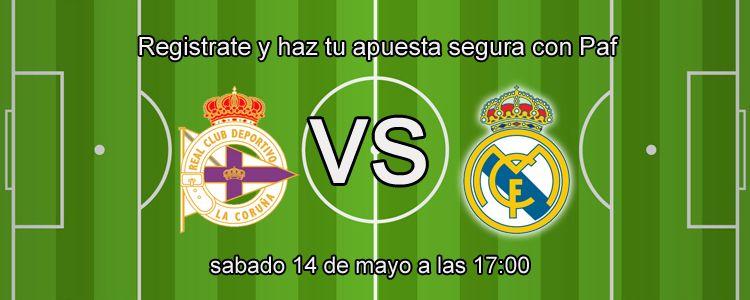 Apuesta segura de la semana para el partido Deportivo Coruña - Real Madrid