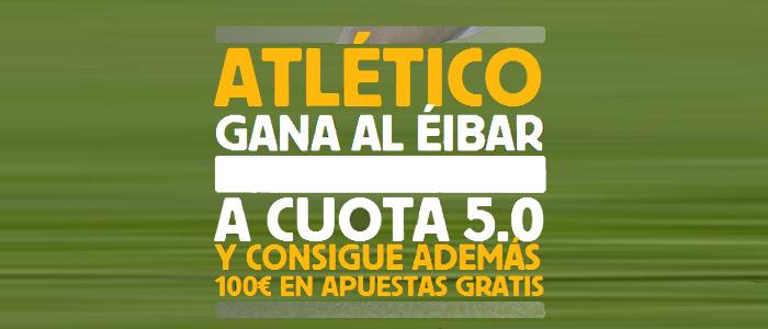 Súpercuota Betfair por la victoria del Atlético contra Eibar