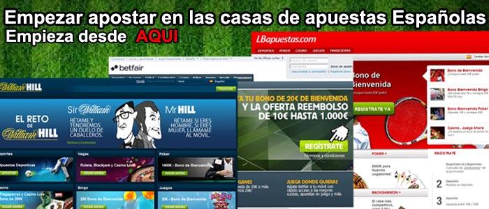 Empezar apostar en las casas de apuestas Españolas