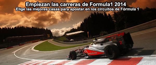 Empiezan las carreras de Formula1 2014