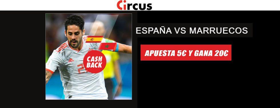 Consigue 20€ en el partido España - Marruecos