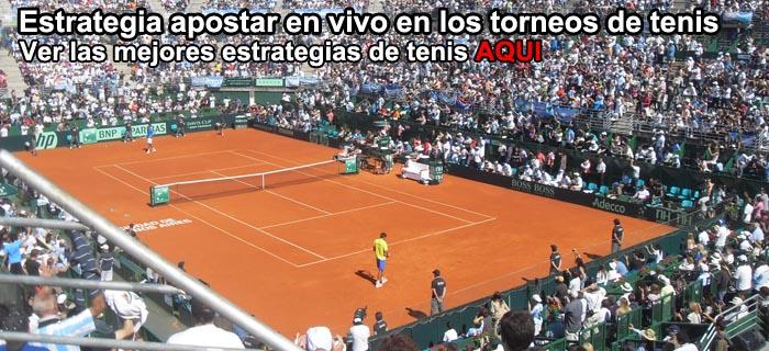 Estrategia apostar en vivo en los torneos de tenis
