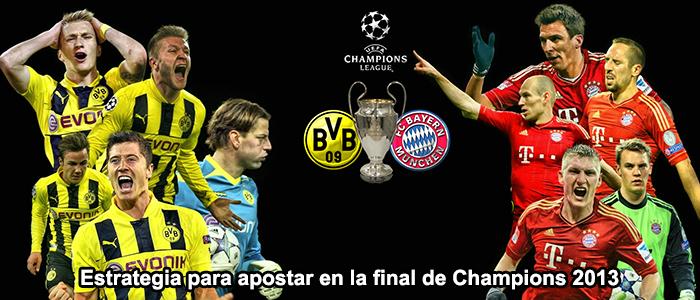 Estrategia para apostar en la final de Champions 2013