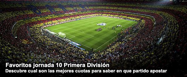 Favoritos jornada 10 Primera Division