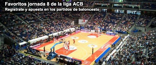 Favoritos jornada 8 de la liga ACB