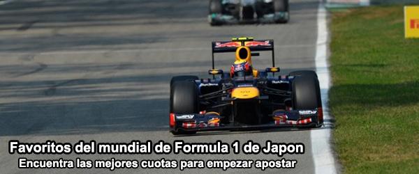Favoritos del mundial de Formula 1 de Japón