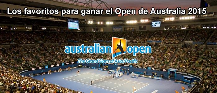 Los favoritos para ganar el Open de Australia 2015