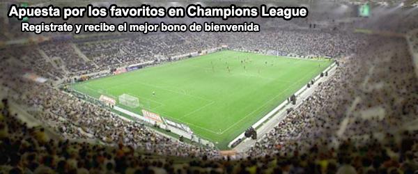 Apuesta por los favoritos en Champions League