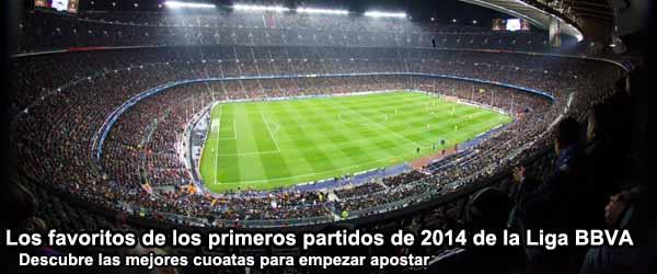 Los favoritos de los primeros partidos de 2014 de la Liga BBVA