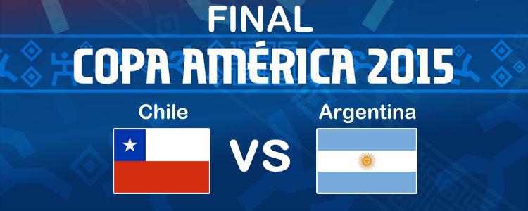 Chile vs Argentina en la final de la Copa América 2015