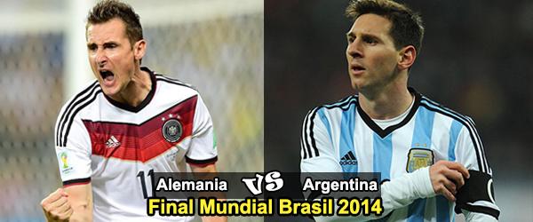 Final Mundial Brasil 2014: Alemania - Argentina