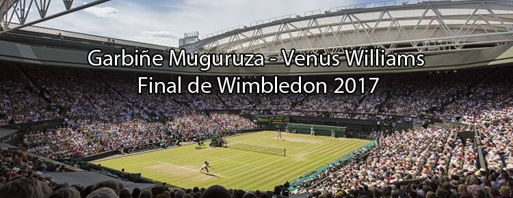 Garbiñe Muguruza y Venus Williams en la Final de Wimbledon 2017