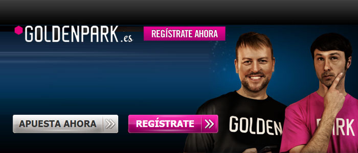 Haz tus apuestas con Goldenpark y si pierdes te devuelven hasta 15 euros