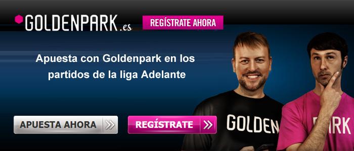 Apuesta con Goldenpark en los partidos de la liga Adelante