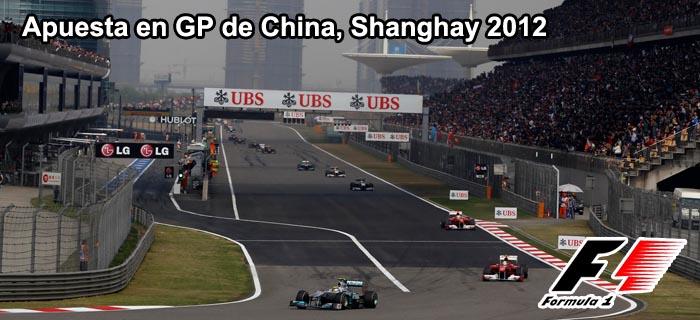 Apuesta en GP de China, Shanghai 2012
