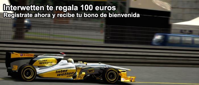 Interwetten te regala 100 euros como bono de bienvenida