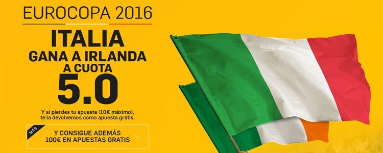 Supercuota por la victoria de Italia ante Irlanda
