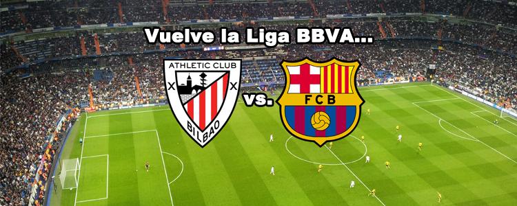 Liga BBVA: El athletic se enfrenta al Barcelona en el primer encuentro de la temporada