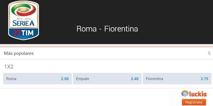 Previa partido As Roma v. Fiorentina