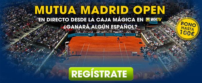 Donde ver en directo los partidos de Mutua Madrid Open 2015