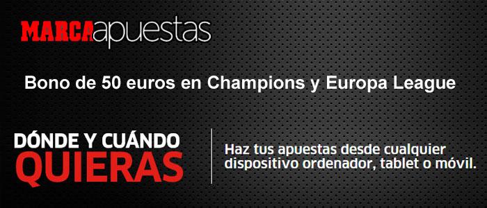 Bono de 50 euros en Champions y Europa League