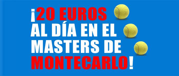 Recibe 20 euros al día para apostar en el Masters de Monterarlo