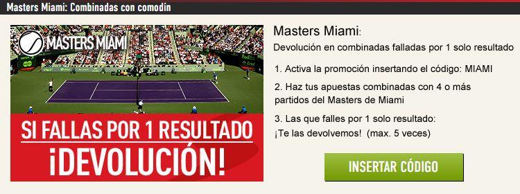 Haz tus apuestas combinadas con Sportium en el Masters de Miami