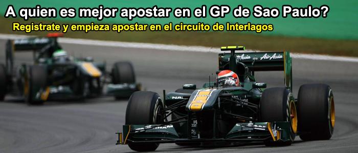 A quien es mejor apostar en el GP de Sao Paulo?