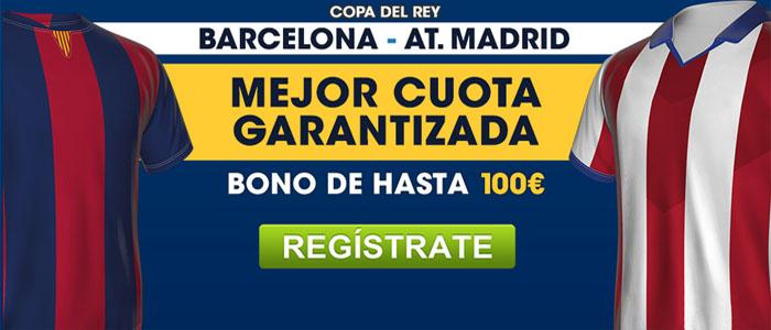 William Hill te ofrece la mejor cuota para el partido Barcelona - Atlético de Madrid