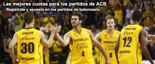 Las mejores cuotas para los partidos de ACB